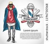 barbershop flyer with dangerous ... | Shutterstock .eps vector #1196730568