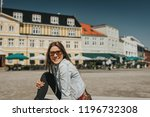 young pretty woman tourist in... | Shutterstock . vector #1196732308