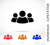 people vector icon | Shutterstock .eps vector #1196737318
