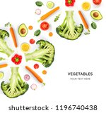 creative layout made of avocado ... | Shutterstock . vector #1196740438