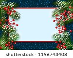 new year. christmas. postcard ... | Shutterstock .eps vector #1196743408