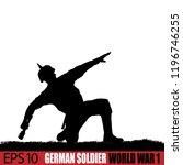 world war one german soldier...   Shutterstock .eps vector #1196746255