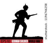 world war one german soldier...   Shutterstock .eps vector #1196746258