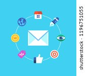 email marketing  newsletter and ...   Shutterstock .eps vector #1196751055