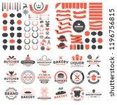 vintage retro vector logo for... | Shutterstock .eps vector #1196756815
