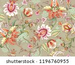 tropical fantasy floral... | Shutterstock .eps vector #1196760955