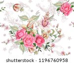 fantasy floral seamless pattern ... | Shutterstock .eps vector #1196760958