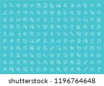 collection of line white icons... | Shutterstock .eps vector #1196764648