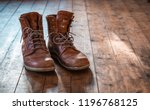 travel boots  vintage boots ... | Shutterstock . vector #1196768125