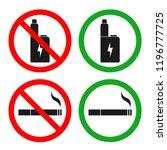 no vaping area sign. no smoking ... | Shutterstock .eps vector #1196777725