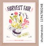 vector farmers market banner...   Shutterstock .eps vector #1196780248