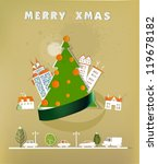 christmas in the city background | Shutterstock .eps vector #119678182
