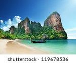 railay beach in krabi thailand | Shutterstock . vector #119678536