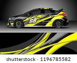 car wrap design vector.... | Shutterstock .eps vector #1196785582