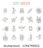 vector icon and logo beer and... | Shutterstock .eps vector #1196790022