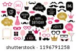 photo booth props set for...   Shutterstock . vector #1196791258