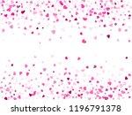 crimson hearts confetti frame...   Shutterstock .eps vector #1196791378