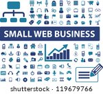 small web business signs  icons ... | Shutterstock .eps vector #119679766