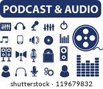 podcast   audio signs  icons...