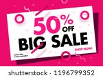 Stock vector big sale online banner off sale special offer promo campaign advertising layout price dropped 1196799352