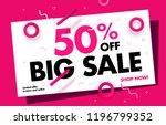 big sale online banner 50  off... | Shutterstock .eps vector #1196799352