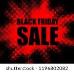 black friday sale red promo... | Shutterstock .eps vector #1196802082