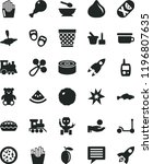 solid black flat icon set image ... | Shutterstock .eps vector #1196807635