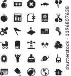 solid black flat icon set mark... | Shutterstock .eps vector #1196807638