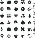 solid black flat icon set cross ... | Shutterstock .eps vector #1196810245