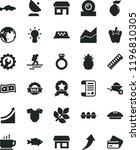 solid black flat icon set line... | Shutterstock .eps vector #1196810305