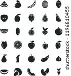 solid black flat icon set...   Shutterstock .eps vector #1196810455