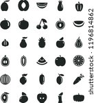 solid black flat icon set... | Shutterstock .eps vector #1196814862