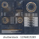 hud. hud for web background... | Shutterstock .eps vector #1196815285