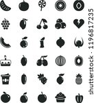 solid black flat icon set... | Shutterstock .eps vector #1196817235