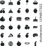 solid black flat icon set cake... | Shutterstock .eps vector #1196817322