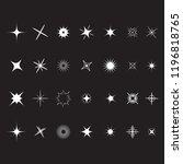 stars sparkles sign symbol set. ... | Shutterstock . vector #1196818765