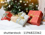 presents and gifts under... | Shutterstock . vector #1196822362