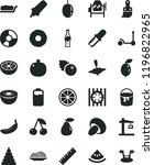 solid black flat icon set... | Shutterstock .eps vector #1196822965