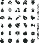 solid black flat icon set beet... | Shutterstock .eps vector #1196823028