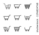cart icon set | Shutterstock .eps vector #1196824768
