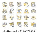 legal services filled color... | Shutterstock .eps vector #1196829505