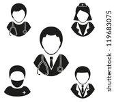Medical staff. Set vector icons . EPS-10 (non transparent elements, non gradient)