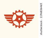 gear wing vector | Shutterstock .eps vector #1196836465