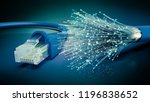 network cable and optic fibre... | Shutterstock . vector #1196838652