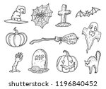 hand drawn doodle style... | Shutterstock .eps vector #1196840452