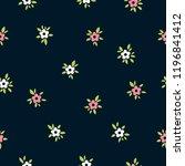 vector floral seamless pattern. ...   Shutterstock .eps vector #1196841412