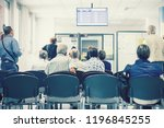 waiting the turn in a hospital. ... | Shutterstock . vector #1196845255
