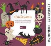 halloween banner. halloween...   Shutterstock .eps vector #1196848675