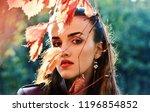 portrait of a beautiful girl...   Shutterstock . vector #1196854852