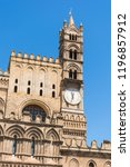 palermo cathedral  is a place... | Shutterstock . vector #1196857912